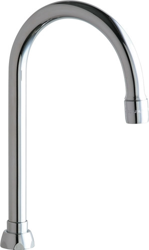 "Chicago Faucets (GN2AE35JKABCP)  5-1/4"" Rigid / Swing Gooseneck Spout"