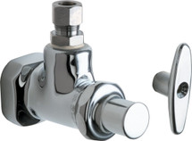 Chicago Faucets (1013-ABCP)  Angle Stop Fitting with Loose Key