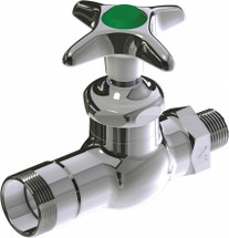 Chicago Faucets (937-225-5CP)  Single Cold Water Straight Valve