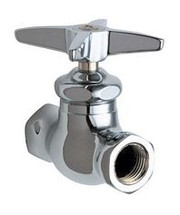 Chicago Faucets (45-244COLDABCP)  Straight Stop Fitting