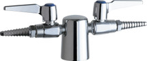 Chicago Faucets (981-909AGVCP)  Turret with Two Ball Valves