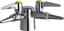 Chicago Faucets (982-909AGVCP)  Turret with Two Ball Valves