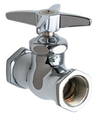 Chicago Faucets (375-ABCP)  Straight Stop Fitting