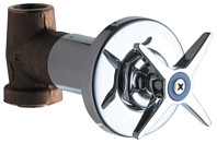 Chicago Faucets (770-COLDABCP)  Cold Water Concealed Straight Valve