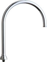 """Chicago Faucets (GN8AFCJKABCP)  Flow Control 8"""" Rigid / Swing Gooseneck Spout"""
