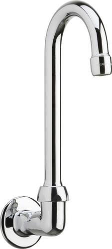 Chicago Faucets (629-E3ABCP)  Remote Rigid/Swing Gooseneck Spout