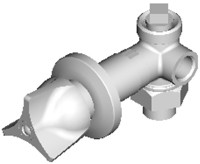 Chicago Faucets (1769-HOTABCP)  Hot Water Concealed Angle Bypass Valve