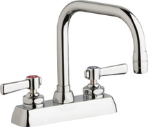 Chicago Faucets (W4D-DB6AE35-369AB)  Hot and Cold Water Workboard Sink Faucet