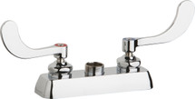 Chicago Faucets (W4D-LES317AB)  Hot and Cold Water Workboard Sink Faucet