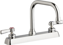 Chicago Faucets (W8D-DB6AE1-369ABCP)  Hot and Cold Water Workboard Sink Faucet