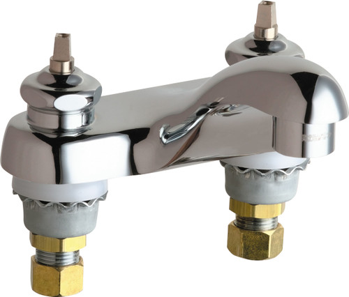 Chicago Faucets (802-VE64LEHAB)  Hot and Cold Water Sink Faucet