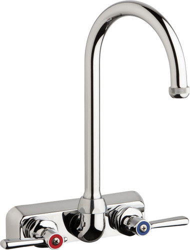 Chicago Faucets (W4W-GN2AE1-369ABCP)  Hot and Cold Water Workboard Sink Faucet