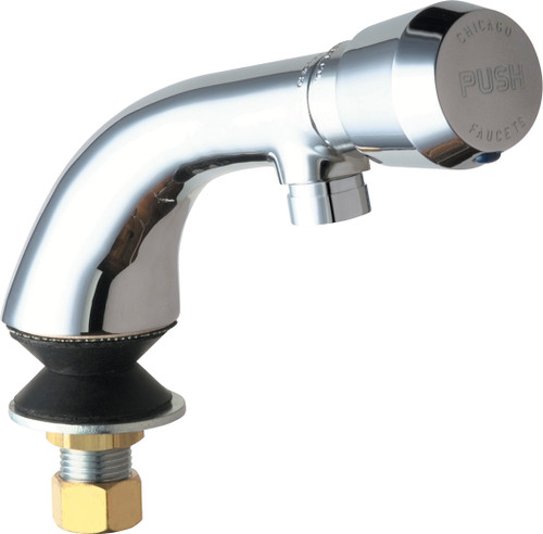 Chicago Faucets (807-E2805-665PSHAB)  Single Inlet Metering Sink Faucet