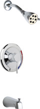 Chicago Faucets (SH-TK1-01-100)  Tub and Shower Trim Kit with Shower Head and Diverter Tub Spout
