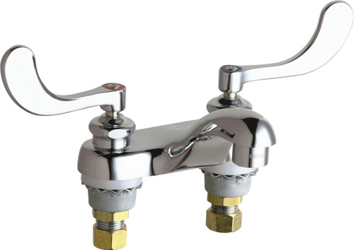Chicago Faucets (802-V317E66XKABCP)  Hot and Cold Water Sink Faucet