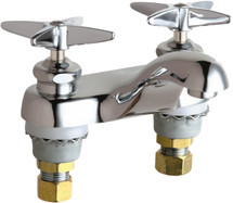 Chicago Faucets (802-633ABCP) Hot and Cold Water Metering Sink Faucet