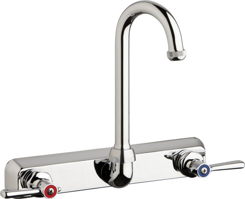Chicago Faucets (W8W-GN1AE1-369ABCP)  Hot and Cold Water Workboard Sink Faucet