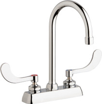 Chicago Faucets (W4D-GN2AE35-317AB)  Hot and Cold Water Workboard Sink Faucet
