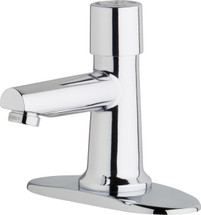 Chicago Faucets (3500-4E2805ABCP)  Single Supply Metering Sink Faucet