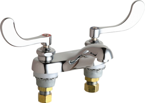Chicago Faucets (802-VE64VP317ABCP)  Hot and Cold Water Sink Faucet