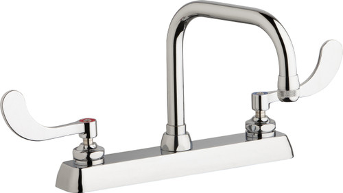 Chicago Faucets (W8D-DB6AE1-317ABCP)  Hot and Cold Water Workboard Sink Faucet