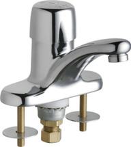 Chicago Faucets (3400-ABCP)  Single Supply Metering Sink Faucet