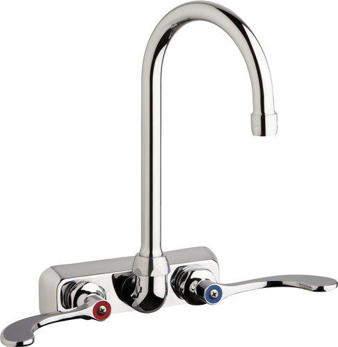 Chicago Faucets (W4W-GN2AE35-317AB)  Hot and Cold Water Workboard Sink Faucet
