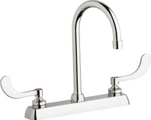 Chicago Faucets (W8D-GN2AE35-317AB)  Hot and Cold Water Workboard Sink Faucet