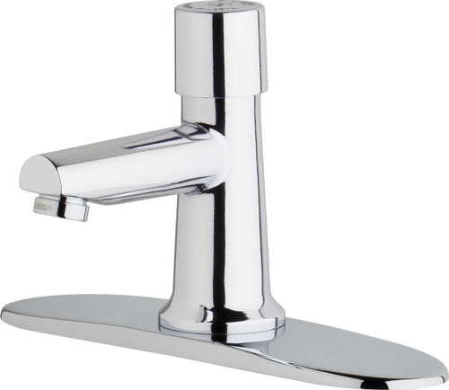 Chicago Faucets (3500-8E2805ABCP)  Single Supply Metering Sink Faucet
