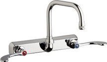 Chicago Faucets (W8W-DB6AE1-317ABCP)  Hot and Cold Water Workboard Sink Faucet
