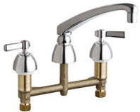 Chicago Faucets (201-AL8XKABCP)  Concealed Hot and Cold Water Sink Faucet