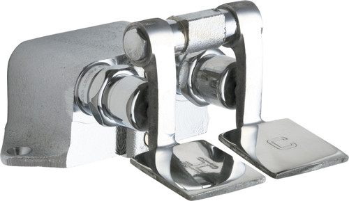 Chicago Faucets (625-ABRCF)  Hot and Cold Water Pedal Box with Short Pedals
