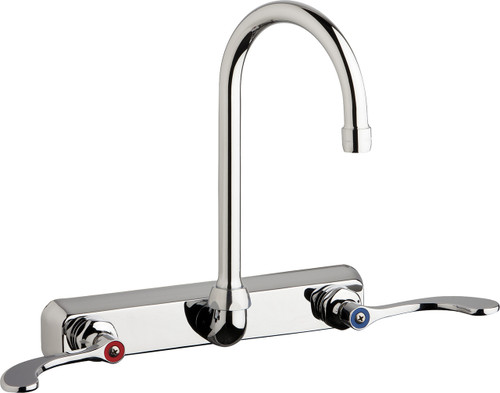 Chicago Faucets (W8W-GN2AE35-317AB)  Hot and Cold Water Workboard Sink Faucet