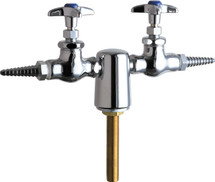 Chicago Faucets (981-937CH957-3KAGV)  Turret with Two Needle Valves at 180Ì´åÁ