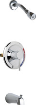 Chicago Faucets (SH-PB1-03-100)  Pressure Balancing Tub and Shower Valve with Shower Head and Diverter Tub Spout