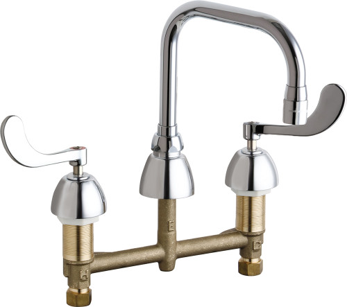 Chicago Faucets (201-ADB6AE3-317AB)  Concealed Hot and Cold Water Sink Faucet