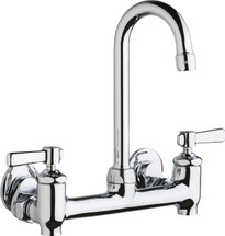 Chicago Faucets (640-GN1AE35-369YAB)  Hot and Cold Water Sink Faucet with Integral Supply Stops