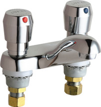 Chicago Faucets (802-665ABCP)  Hot and Cold Water Metering Sink Faucet
