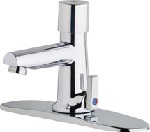Chicago Faucets (3502-8E2805ABCP)  Hot and Cold Water Metering Mixing Sink Faucet