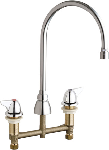 Chicago Faucets (201-GN8AE29-1000AB)  Concealed Hot and Cold Water Sink Faucet
