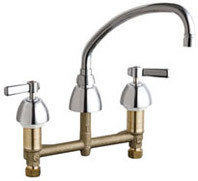 Chicago Faucets (201-AVPAXKABCP)  Concealed Hot and Cold Water Sink Faucet