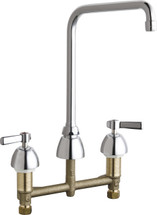 Chicago Faucets (201-AHA8ABCP)  Concealed Hot and Cold Water Sink Faucet