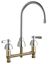 Chicago Faucets (201-AGN8AE3VPCABCP) Concealed Hot and Cold Water Sink Faucet