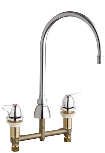 Chicago Faucets (201-AGN8AE3-1000AB)  Concealed Hot and Cold Water Sink Faucet