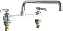 Chicago Faucets (527-L12E1ABCP)  Hot and Cold Water Sink Faucet