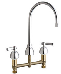 Chicago Faucets (201-AGN8AE2805FAB)  Concealed Hot and Cold Water Sink Faucet