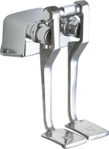 Chicago Faucets (625-LPABCP)  Hot and Cold Water Pedal Box with Long Pedals