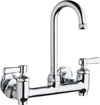 Chicago Faucets (640-GN1AE1-369YAB)  Hot and Cold Water Sink Faucet with Integral Supply Stops
