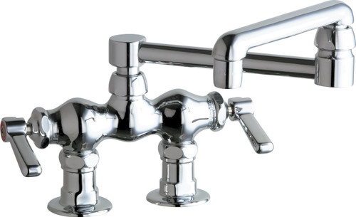 Chicago Faucets (772-DJ13E35ABCP)  Hot and Cold Water Sink Faucet