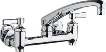 Chicago Faucets (640-L8E35-369YAB)  Hot and Cold Water Sink Faucet with Integral Supply Stops